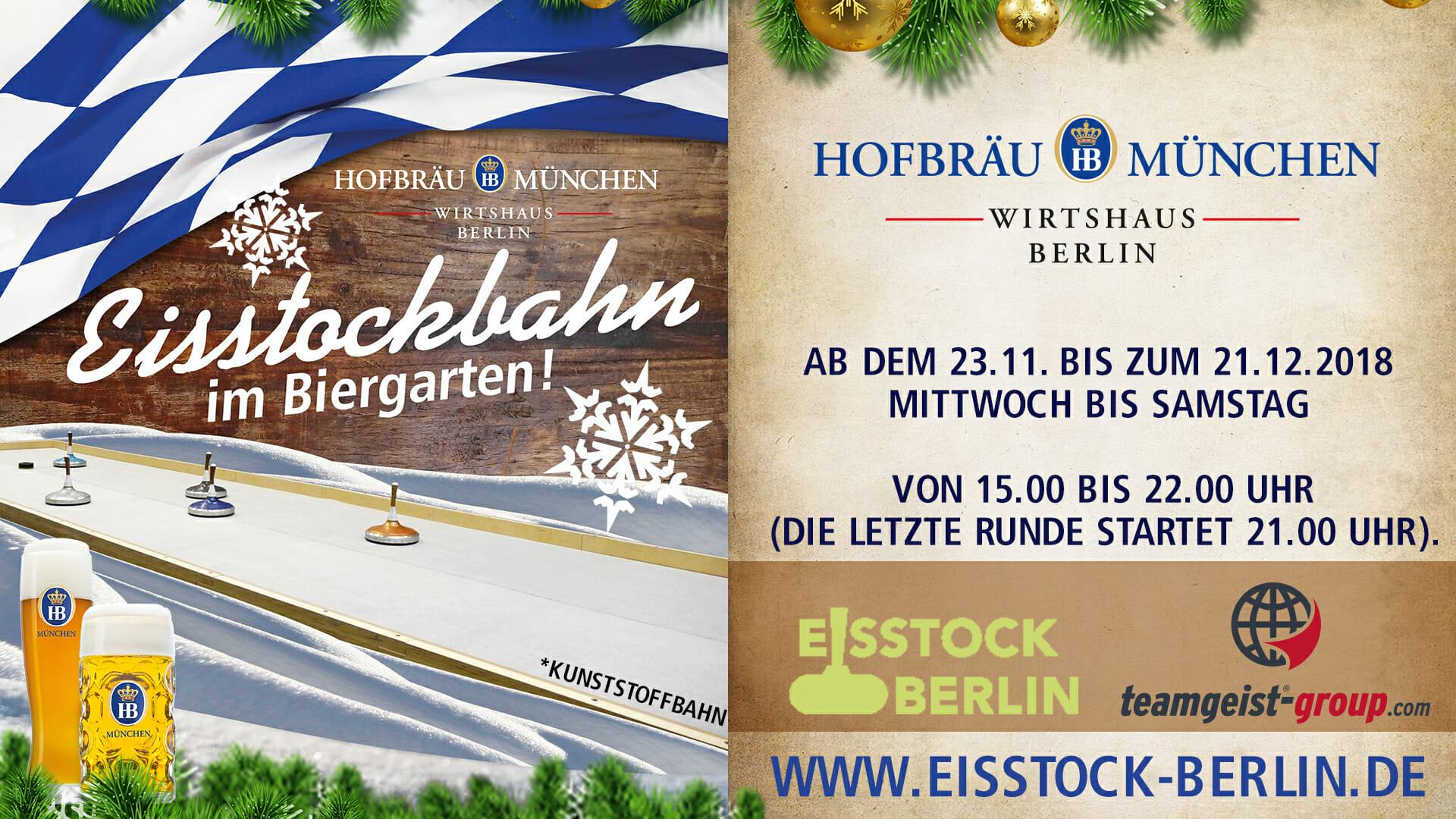 Eisstockschießen Berlin Weihnachtsfeier.Eisstockschiessen Berlin Hofbräu Wirtshaus
