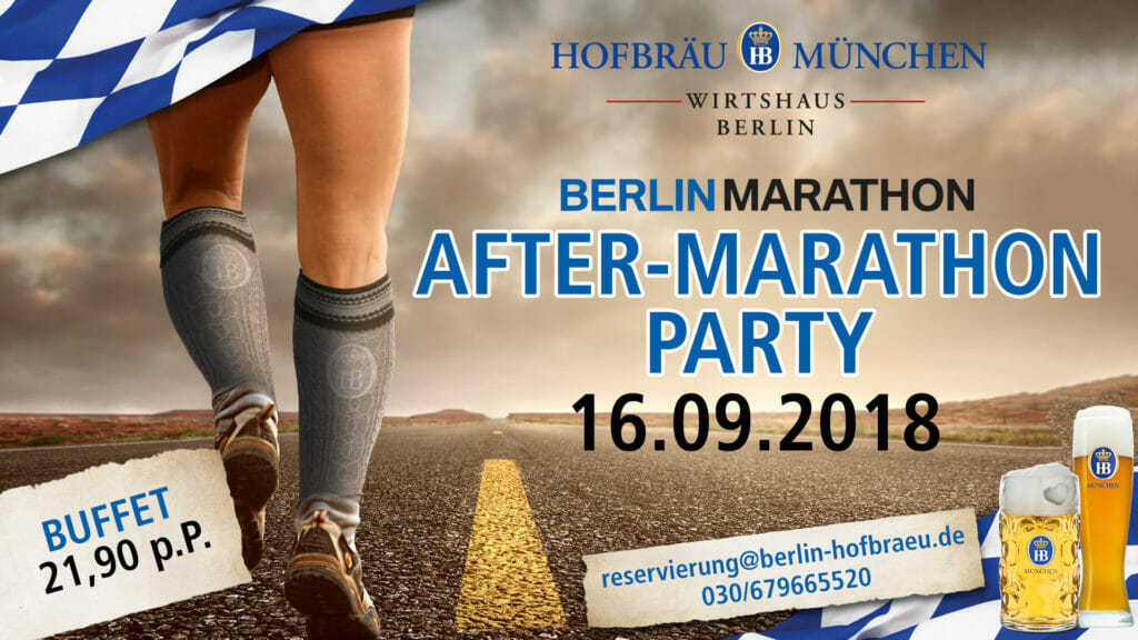 Berlin Marathon Afterparty 2018