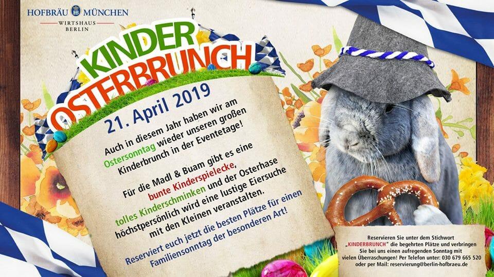 "Kinder Osterbrunch mit dem ""Hofbräu Osterhasen"""