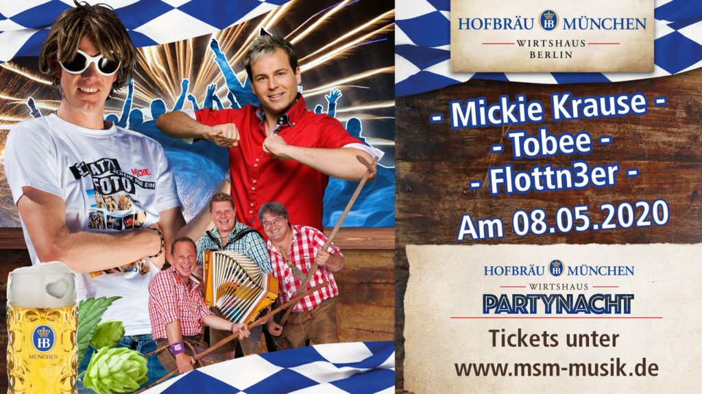 Party Nacht Berlin mit Mickie Krause und Tobee