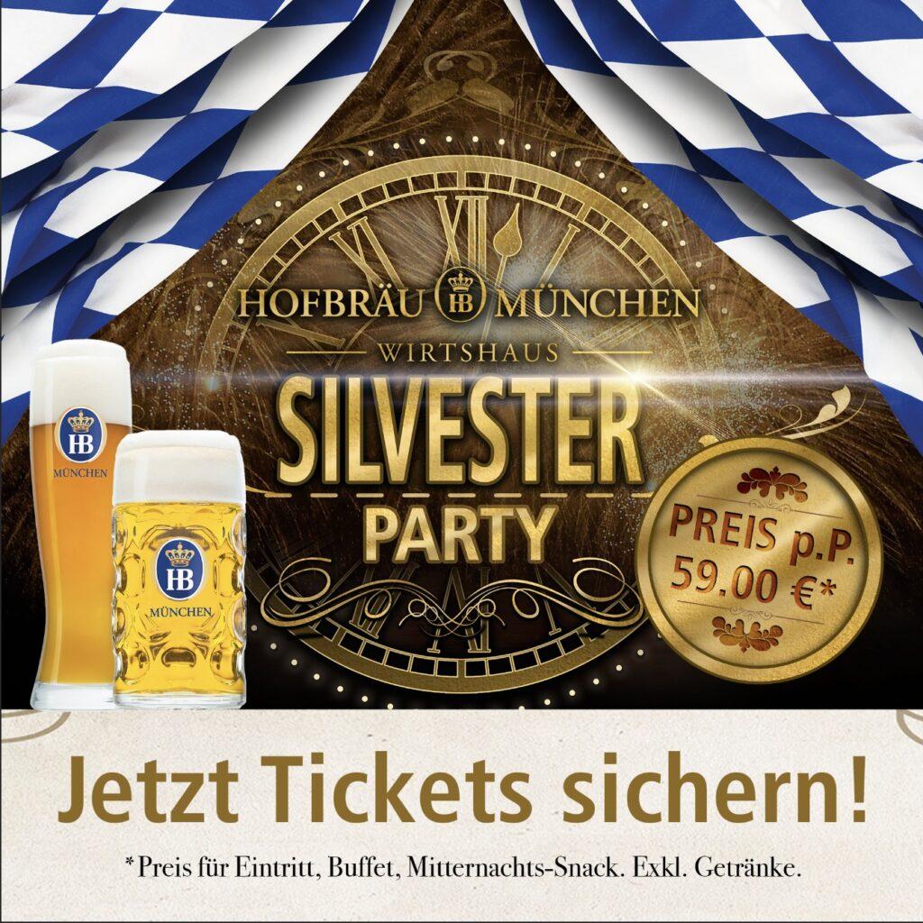 Silvester Party im Hofbräu Wirtshaus